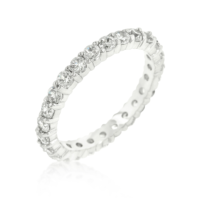 Merveilleux Cubic Zirconia Eternity Wedding Ring