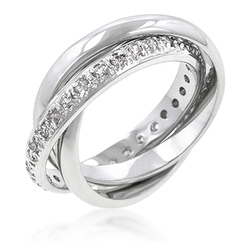 Intertwined Eternity Wedding Rings